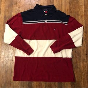 Vintage 90s Tommy Hilfiger rugby polo